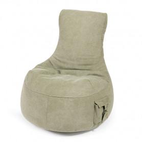 Seat Pocket säkkituoli, kivipesty kangas