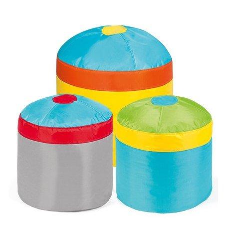Cupcake Set, 3 värikästä lasten istuinta
