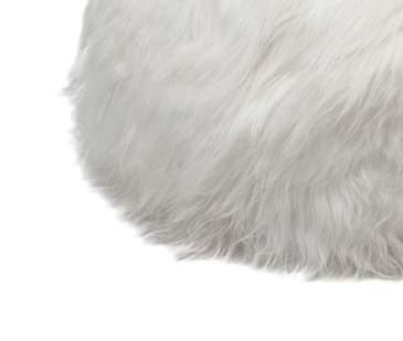 White long wool