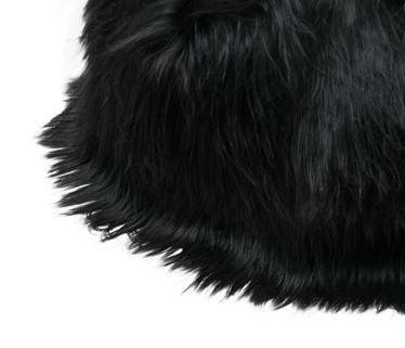 Black brown long wool