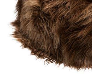 Rusty brisa long wool - ruskea