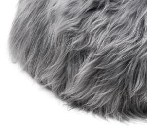 Grey brisa long wool - harmaa