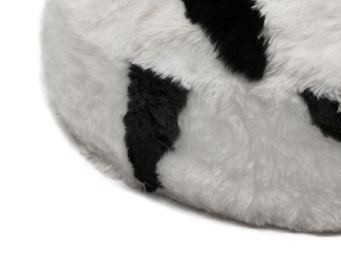 Spotted white black short wool